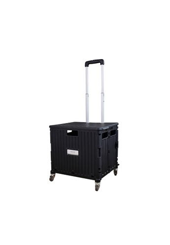 HOUZE black HOUZE - Moveet Foldable Shopping Trolley - Black 88BCCHL3A65802GS_1