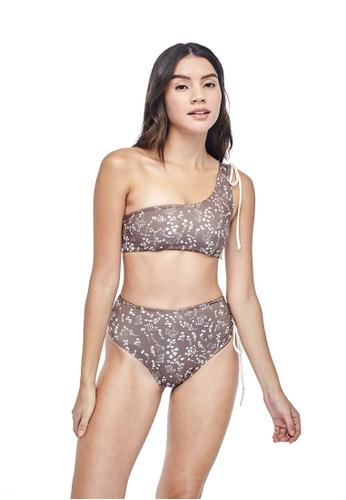Ozero Swimwear 褐色 LADOGA俄羅斯夏季印花高腰比基尼泳褲 3D6D8USC01C5BFGS_1