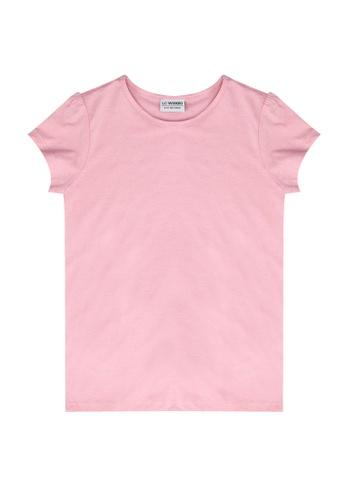 LC Waikiki pink Girl's Basic Cotton T-shirt FA53DKAF319C72GS_1