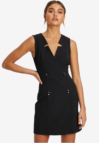 REUX black Olson Blazer Dress 2D93AAA0B1794BGS_1