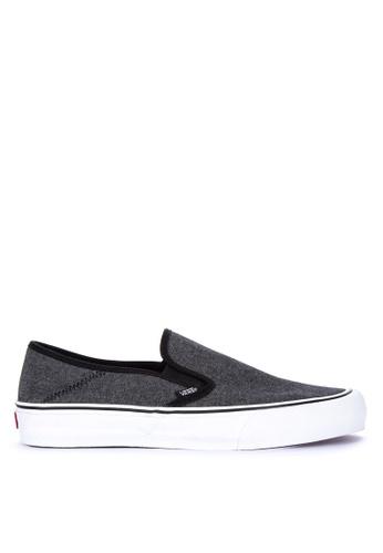 VANS black Chambray Slip-On SF Sneakers BF2E5SHE7DA946GS_1