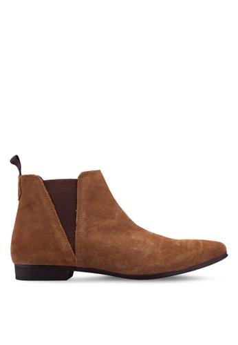 Burton Menswear London 褐色 Chelsea 踝靴 75638SHE5D3DC1GS_1