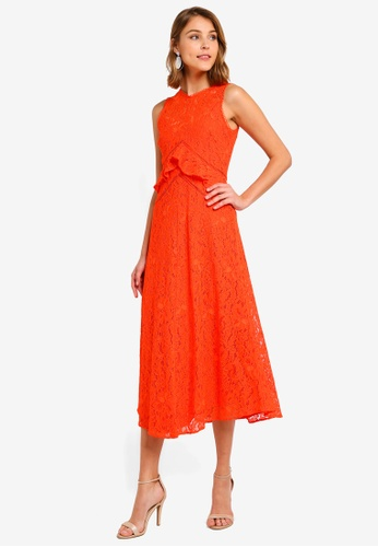 f21d7f75f3734 Frill Lace Midi Dress