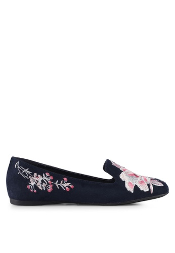 VINCCI navy Embroidered Loafers BBF74SH680BE51GS_1