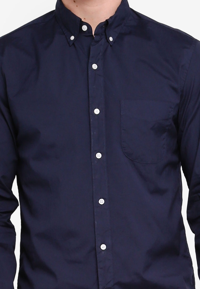 Crew Shirt J Wash Navy Stretch Secret Poplin tqOTwBX4