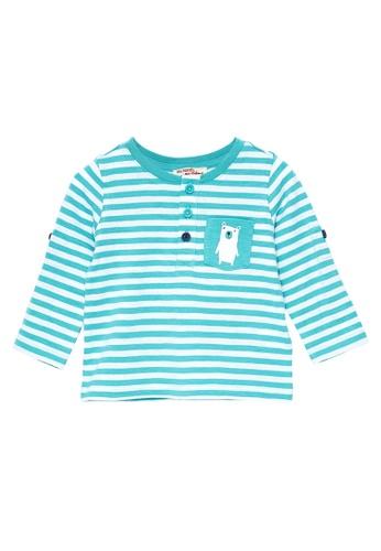 Du Pareil Au Même (DPAM) blue Pocket Bear T-Shirt 03A44KAC5D94DEGS_1