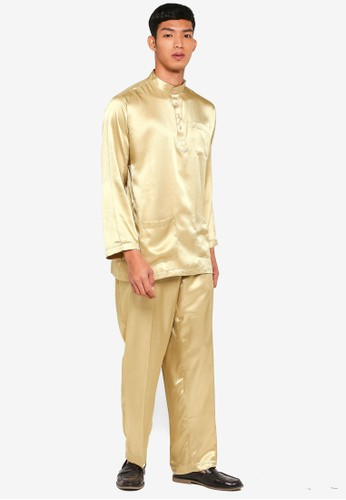Gene Martino gold Traditional Baju Melayu C95E0AAD833325GS_1