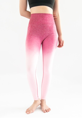 Love Knot pink and purple Kinsler Ombre Sports Legging (Dark Pink to Light Pink) 15301AA21A2286GS_1
