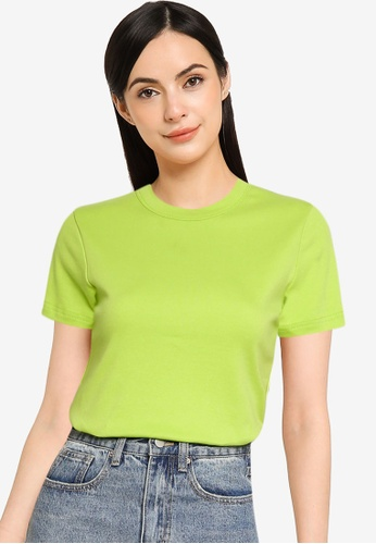 UniqTee green Soft Cotton Relaxed Fit Crew Neck Tee C8F6CAAFDA14ABGS_1