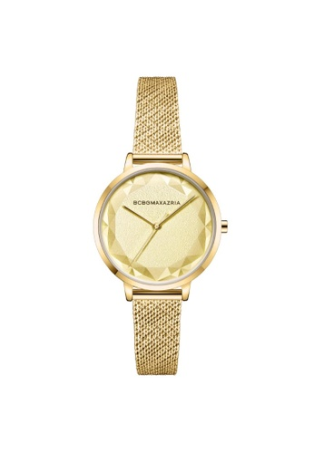 BCBG gold BCBGMAXAZRIA BG51136010 Gold Tone Stainless Steel Milanese Watch 4C853ACB6055A6GS_1