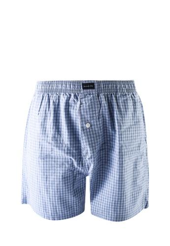 Abercrombie & Fitch blue Singles Woven Briefs 08355US3691189GS_1