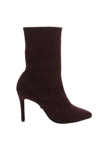 SCHUTZ 紅色 SCHUTZ 襪子高跟女靴 - ESTRELA (酒紅色) 72EABSHF5F688CGS_1