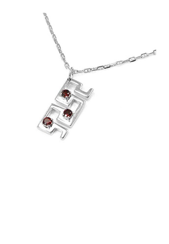 Glamorousky brown Pendant in Silver 925 with Garnet with Silver Chain 79E05AC6BCA910GS_1