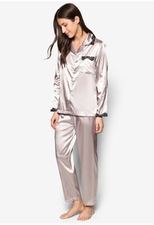 456778e06e Satin Pajama Set IM679AA07WZGMY 1 Impression Satin Pajama Set RM 256.00 NOW  RM 175.00. Silk Long Sleeve Long Pants Pyjamas Set L7019-CAM  3D879AA8C2084CGS 1