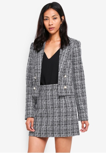 db7ba03869b4f4 Buy Miss Selfridge Black Boucle Jacket Online on ZALORA Singapore