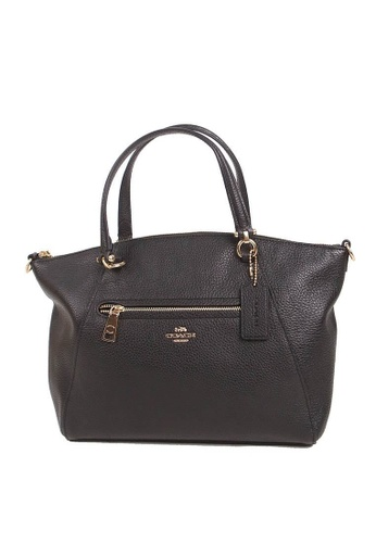 Coach black Coach Prairie Satchel 79997 In Black Leather With Gold Hardware 1417EAC121CD07GS_1