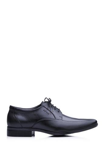 BONIA Men Black Oxford Dress Shoes 6F49BSH5E107D9GS_1