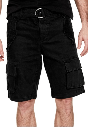 GUESS black Guess Bruce Twill Cargo Shorts 6A0ECAA2A96BFAGS_1