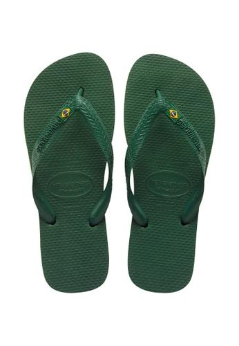 Havaianas green Brasil Flip Flops F6C17SH1E8C918GS_1