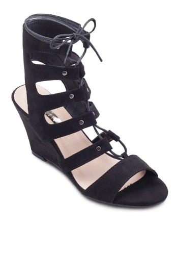 Renesprit旗艦店ata 羅馬低筒楔形涼鞋, 女鞋, 鞋