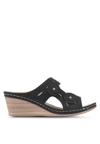 Louis Cuppers 黑色 楔形涼鞋 2FEC5SH264A77DGS_1