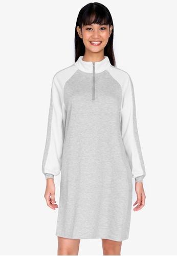 ZALORA BASICS multi Zip Neck Sweater Dress 47C67AAC234489GS_1