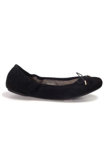 Shu Talk black AMAZTEP New Comfy Bow Ballerina Ballet Flats in Navy FB15ASH297C218GS_1