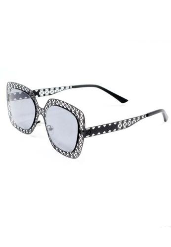 Amora Scarlett Geometric Lace Cut Out Noir Eyewear AM058AC03OFGMY_1