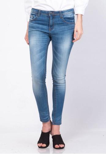 Point One blue MANDY Blue Marine Midrise Skinny jeans 3B561AA08442B7GS_1