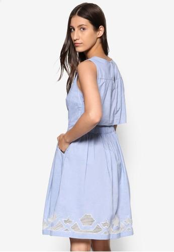 層次鏤空洋裝, esprit台灣網頁服飾, 服飾