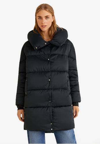 Mango black Oversize Quilted Coat AB5D8AA583E3B3GS_1