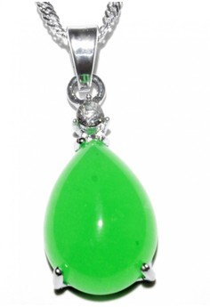 Lucky Yeng Small Drop Jade Pendant
