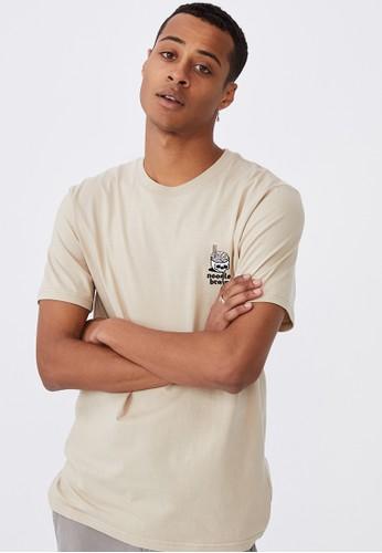 Cotton On beige Tbar Art T-Shirt 9D52FAAB90F8F8GS_1