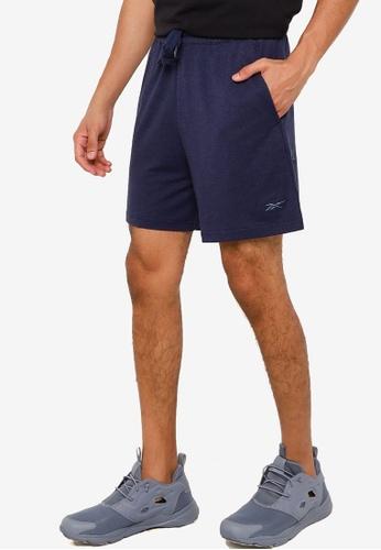 Reebok 海軍藍色 Les Mills Dreamblend 棉短褲 B697FAABF68FABGS_1