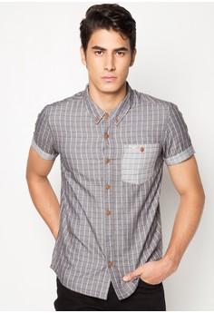 Slim Fit Short Sleeve Checkered Shirt