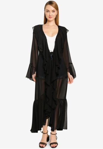 Vero Moda black Mia Maxi Kimono 82854AA8E782A6GS_1