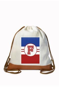 Drawstring Bag Sporty Initial F