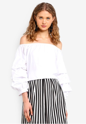 Kodz white Off-The-Shoulder Top 67C1FAAC1F2319GS_1