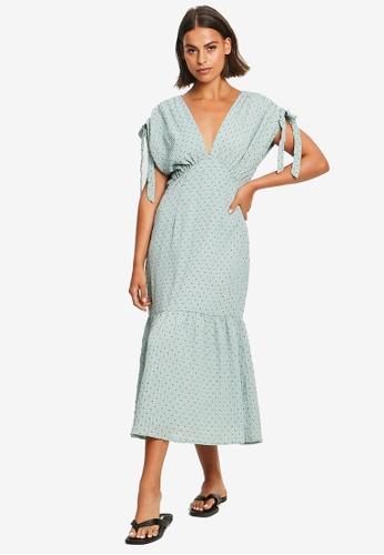 The Fated green Harlie Midi Dress 4A7A1AAFCFC68CGS_1