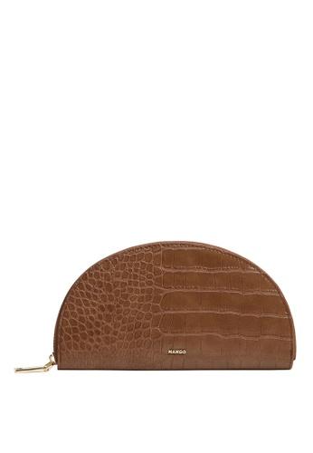 Mango brown Croc-Effect Wallet 934B1AC78B1AEBGS_1