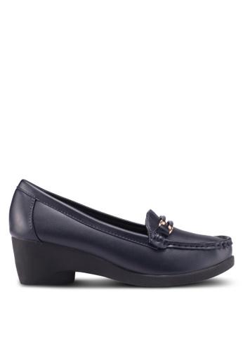 Noveni 海軍藍色 休閒楔型鞋 AA7BFSH413B092GS_1