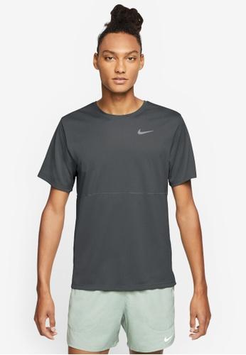 Nike black Men's Breathe Dri-Fit Running Top DBDC8AAF923257GS_1