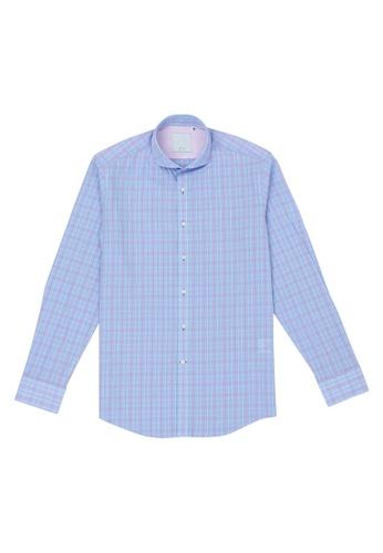 Benjamin Barker blue Hammett Skyblue Check Shirt 8E47BAA5F0DB30GS_1