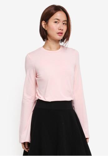 NAIN pink Basic Long Sleeve Top DF05FAA549EAC2GS_1
