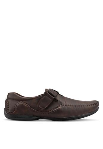 Rocklander brown Matarazo Strap-On Moccasins 9E262SH933D268GS_1
