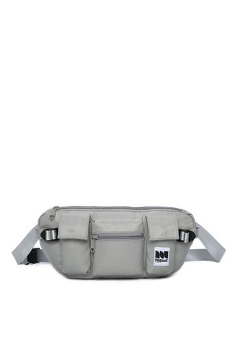 Milliot & Co. grey Humphrey Waist Bag 9E018AC08E4900GS_1
