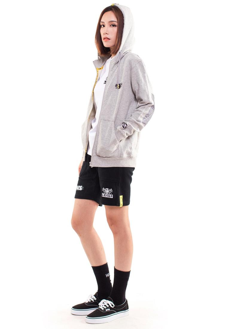 Reoparudo Edition Grey RPD Reflective Zip Space Cross Hoodie Grey Caazgq