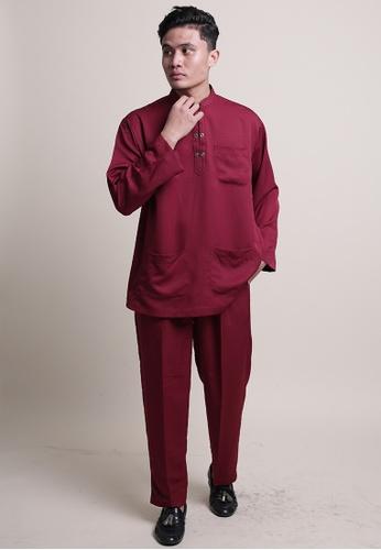 Denai Boutique red Baju Melayu Ziyyad C491CAA4D72669GS_1