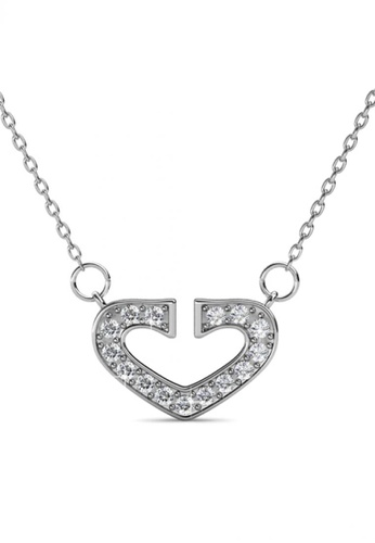 Her Jewellery silver Her Jewellery Hearty Pendant with Necklace Chain with 18K Gold Plated HE210AC41DKOSG_1