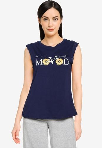 Springfield blue Mood Swiss Embroidery T-Shirt E00E5AA9E68AD2GS_1